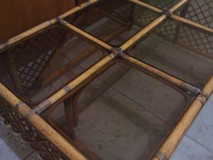 Mesa para exterior terraza rattan posot class for Mesa terraza rattan