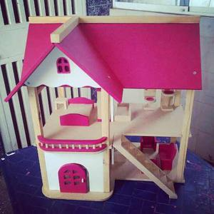 Casa De Muñecas, Casa Para Muñecas Totalmente Amoblada,