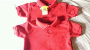 Chemises escolares rojas
