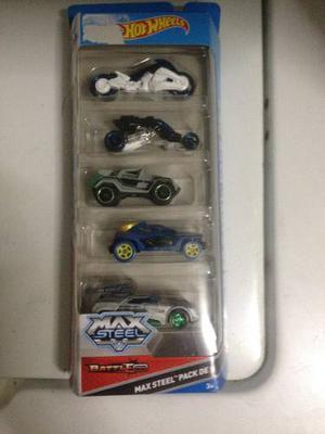 Set De 5 Carros Hot Wheels De Max Steel