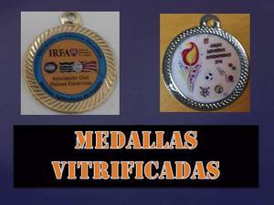 Medallas Y Bases; Medallas Vitrificadas; Placas.