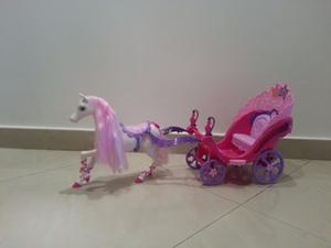 Carroza De Barbie Con Su Caballo