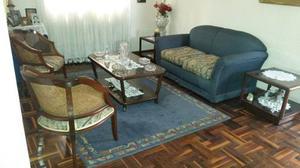 Juego De Sala-sofá/mesa De Centro-sillas-mesitas 7 Piezas