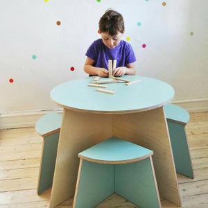 Mesas Y 4 Sillas Para Niños, Excelente P/ Habitación