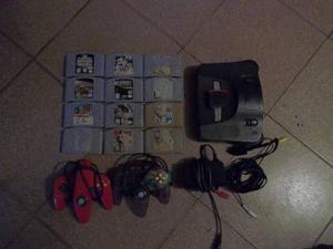 Nintendo 64 2 Controles 12 Juegos + Expansion Pak