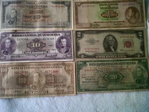 son seis billetes antiguos del año