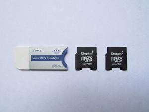 Adaptador De Memorias: Sony Memory Stick Duo Y Micro Sd