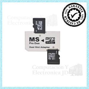 Adaptador Micro Sd A Memory Stick Pro Duo Ms Psp Camaras