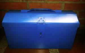 Caja Para Herramientas Metalica Color Azul.
