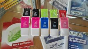 Lector Convertidor De Memoria Micro Sd Varios Colores Nuevos