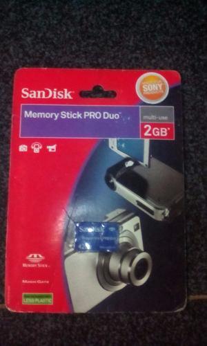 Memoria Stick Pro Duo Sony 2gb Original