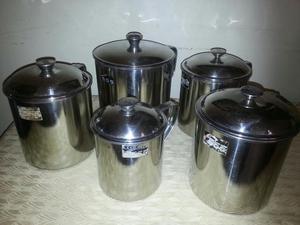 Vendo juego de potes de cocina en ceramica posot class - Ceramica de cocina ...