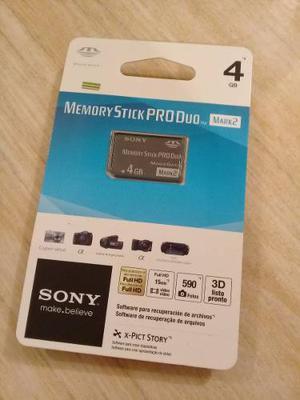 Sony Memory Stick Pro Duo Mark2 De 4 Gb Nueva