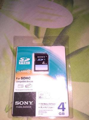 Tarjeta Sd Sony 4gb