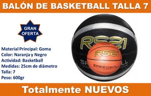 Balón de Basketball Rs21 Talla 7 Original