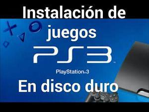 Instalación De Juegos De Ps3 En El Disco Duro.