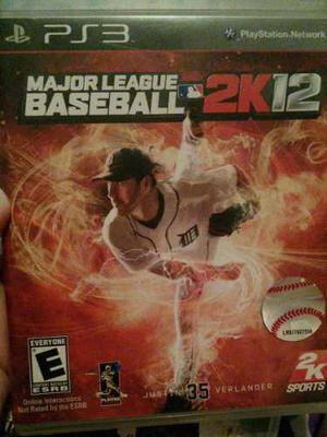 Juego De Ps3 Major League Baseball 2k12