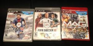 Juegos De Fifa 12, Fifa13 Y Mag Play 3
