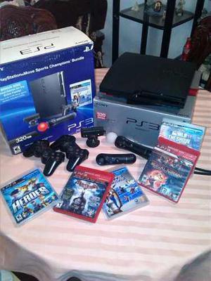 Playstation 3 Con Todos Los Jugueticos 320 Gb De Disco Duro.