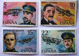 Serie Completa / Aviadores / España / 4 Valores /