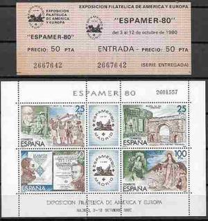 Serie Completa De La Exposicion Filatelica America Y Europa