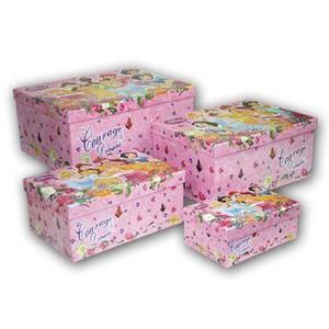 Set De 4 Cajas Organizadoras De Princesas Niñas