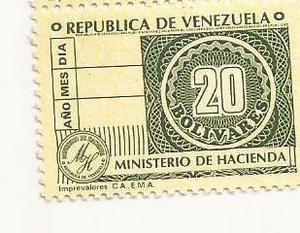 Timbre Fiscal Antiguo De Coleccion