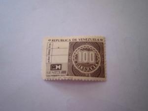 Timbre Fiscal De Cien Bolivares