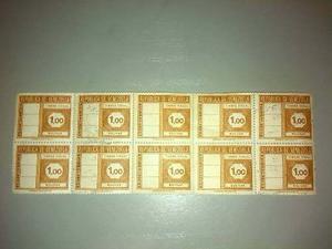 Timbres Fiscales 1 Bolívar (colección)