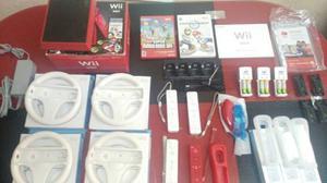 Wii Nind Wii Rojo Original Mariokart Y Supermario 4controles