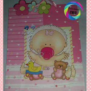 Bolsas De Regalo Grande Al Mayor Escarchadas Baby Bebé 3d