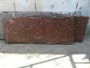 Lotes Completo De 5 Pedazos Granito Rojo Guayana Grueso