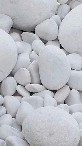 Piedras Redondas Blancas Decorativas Bolsa De 5 Kg
