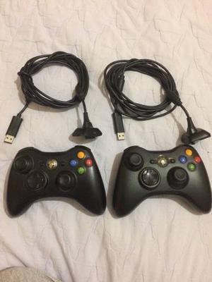 Controles De Xbox 360 Inalambricos + 2 Cables Usb