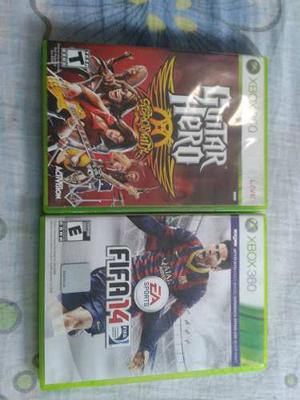 Juegos Originales De Xbox 360 Fifa 14 Y Guitar Hero