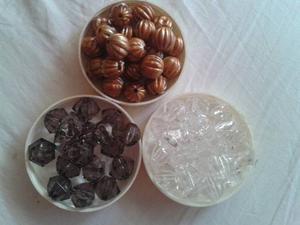 Material Para Bisuteria Acrilico Facetado Redondo Por Docena
