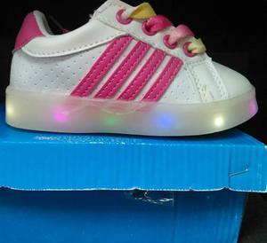 Zapatos De Luces Led Niños Niñas 21 Al 25