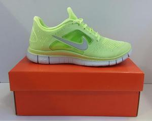 Zapatos Deportivo Nike Free Run 3,tallas , Verde Palido