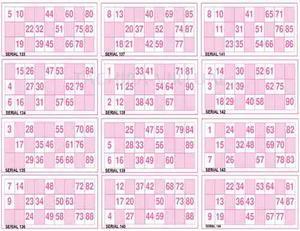 300 Cartones De Bingo Tipo Casino Listos Para Imprimir