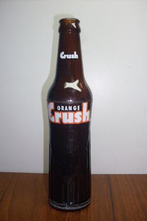 Botella De Colecciòn Refresco Orange Crush