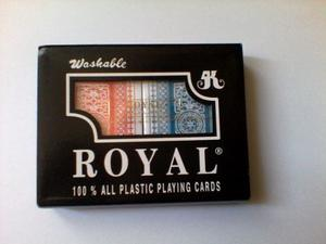 Cartas, Pocker 100% Plásticas Royal,mazo Grueso,fotos