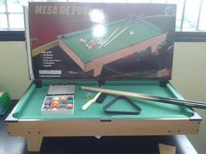 Mesa De Pool Jeidy Toys Mediana (84x38x46) Usada Con Detalle