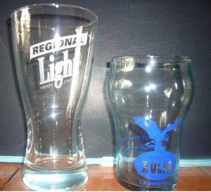 Vasos De Cerveza Regional Ligth Y Zulia Perita