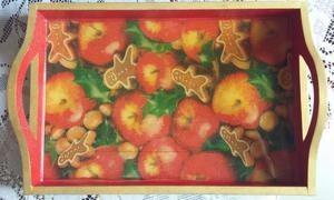 Manteles bandeja con agarraderas navidad posot class for Bandejas de navidad
