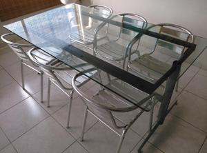 Vidrio rectangular para comedor de 6 a 8 sillas posot class for Comedor redondo ampliable