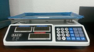 Balanza Peso Digital 40 Kg Batería Recargable Marca Saco