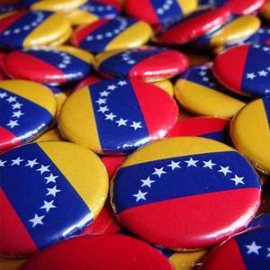 Chapitas Bandera De Venezuela De 25mm (12 Chapas)