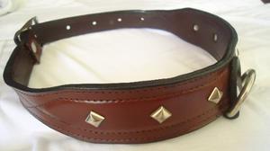 Collar De Cuero Para Perros Grandes - Modelo H25