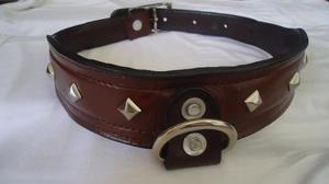 Collar Para Perros En Cuero H30
