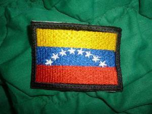 Parche De La Bandera De Venezuela Con El Borde Negro